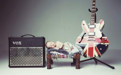 Instruments; guitars, amps, instument cases, records