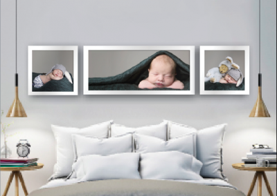 newborn photography in bedroom