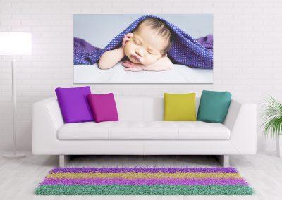 sleepy baby purple